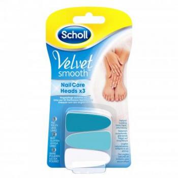 SCHOLL Velvet náhradné hlavice do elektrického pilníka na nechty 3 ks