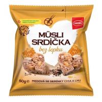 SEMIX Müsli srdiečka bez lepku medové so semienkami 50 g