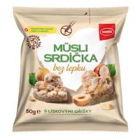 SEMIX Müsli srdiečka bez lepku orieškové 50 g