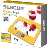 SENCOR SKS 5026YL kuchynská váha žltá
