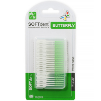 SOFTDENT Butterfly dentálne špáradlá flexi pick 48 ks