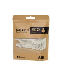 SOFTDENT ECO Dentálne špáradlá s niťou 50 ks