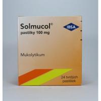 Solmucol pastilky 100 mg pas ord 1x24 ks