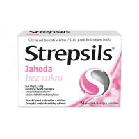 STREPSILS Jahoda bez cukru 24 pastiliek