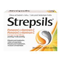 STREPSILS Pomaranč s vitamínom C 24 pastiliek