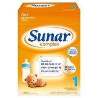 SUNAR Complex 1 Počiatočné dojčenské mlieko od 0 - 6 mesiacov 600 g