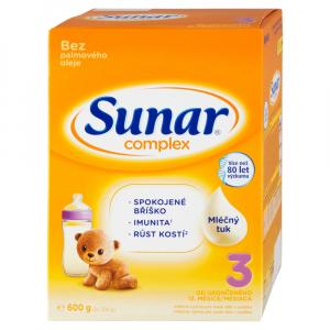 SUNAR Complex 3 Pokračovacie batoľacie mlieko od 12 mesiaca 600 g