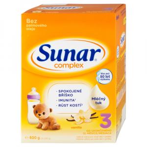 SUNAR Complex 3 Vanilka Pokračovacie batoľacie mlieko od 12 mesiaca 600 g