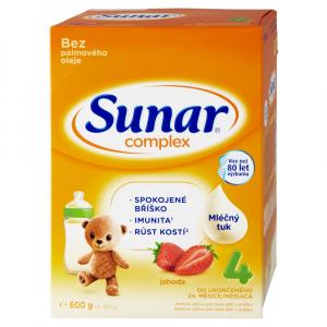 SUNAR Complex 4 Jahoda Pokračovacie batoľacie mlieko od 24 mesiacov 600 g