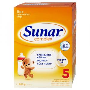 SUNAR Complex 5 Pokračovacie mlieko pre malé deti od 36 mesiacov 600 g