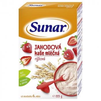 SUNARKA Jahodová kašička mliečna ryžová 225g