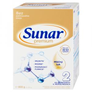 SUNAR Premium 2 Pokračovacie dojčenské mlieko 600 g