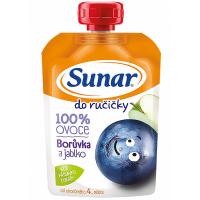 SUNÁREK Do Ručičky Jablko čučoriedka 100% ovocia 100 g