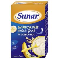 SUNÁREK Kašička mliečna ryžová na dobrú noc Banánová 225 g