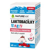 SWISS NATUREVIA Laktobacílky baby 60 sáčkov
