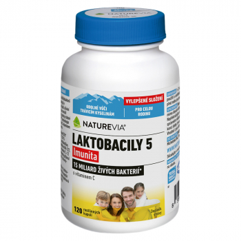 NATUREVIA Laktobacily 5 Imunita 120 kapsúl