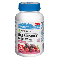 SWISS NATUREVIA Max brusnice pastilky 30+6 pastiliek