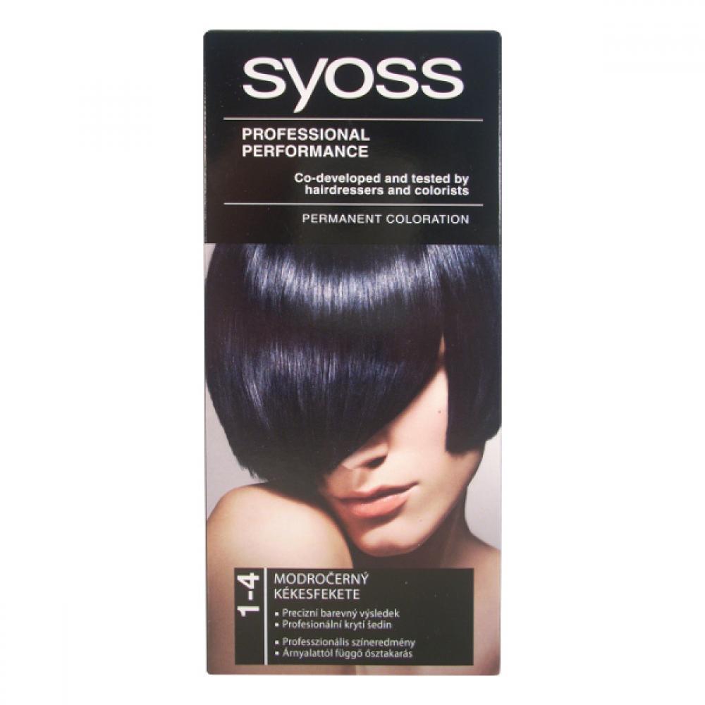 SYOSS farba na vlasy odtieň 1-4 modročierny