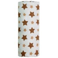 T-TOMI Bambusová osuška Béžové Hviezdičky 1 ks