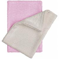 T-TOMI Bambusové žinky - rukavice, natur + ružová