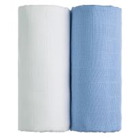 T-TOMI Exclusive Collection Látkové Tetra osušky 2 ks Biela + modrá