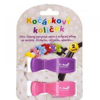 T-TOMI kočíkový kolíček ružová + fialová 2 kusy