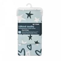 T-TOMI Látkové osušky Hearts & Stars 2 ks