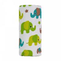 T-TOMI Bio Veľká bambusová osuška zelené slony