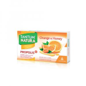 TANTUM Natura Orange & Honey + zinok + vitamín C 15 gumových pastiliek