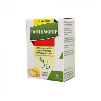 TANTUMGRIP s citrónovou príchuťou 600 mg/10 mg prášok na perorálny roztok 10 vreciek
