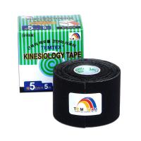 TEMTEX Tejpovacia páska Tourmaline čierna 5 cm x 5 m