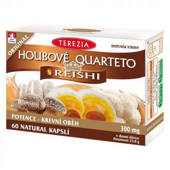TEREZIA Hubové Quarteto s reishi 60 kapsúl