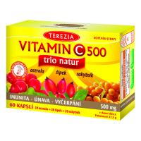 TEREZIA Vitamín C 500 mg TRIO NATUR 60 kapsúl
