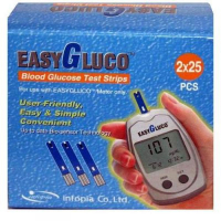 Testovacie prúžky pre glukomer EasyGluco 50 ks