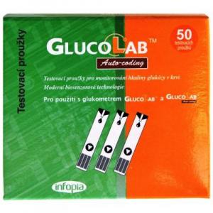 Testovacie prúžky pre glukomer GlucoLab 50ks
