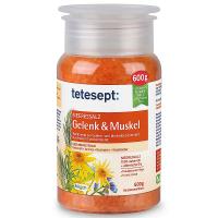 TETESEPT Kúpeľová soľ Svaly a kĺby 600 gTetesept MORSKÁ soľ Uvoľnenie pre svaly je kúpeľová prísada s blahodárnym účinkom na unavené a preťažené svaly a kĺby.