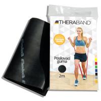 THERA-BAND Posilňovacia guma špeciálne silná - čierna 2 m