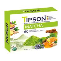 TIPSON Matcha Assorted zelené čaje 60 vrecúšok BIO
