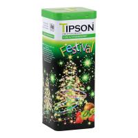 TIPSON  Festival Kiwi & Strawberry zelený sypaný čaj 75 g