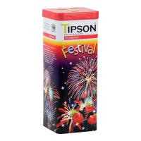 TIPSON Festival Raspberry čierny sypaný čaj 75 g