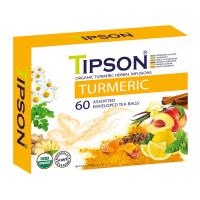 TIPSON Turmeric Assorted bylinné čaje 60 sáčkov BIO
