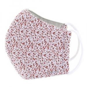 TNG Rúško textilné 3-vrstvové červená kvetinka veľkosť S 5 kusov