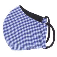 TNG Rúško textilné 3-vrstvové modré kárované veľkosť S 1 kus