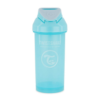 TWISTSHAKE Fľaša netečúca + slamka 6+ mesiacov modrá 360 ml