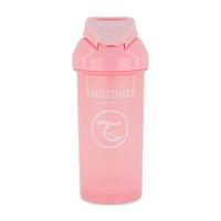 TWISTSHAKE Fľaša netečúca + slamka 6+ mesiacov ružová 360 ml