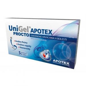 UniGel APOTEX PROCTO rektálny čapík 5 ks
