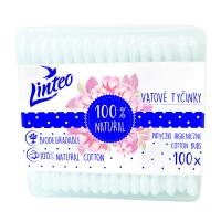 LINTEO Vatové papierové tyčinky BOX 100 ks
