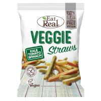 EAT REAL Veggie Straws s kelom, paradajkami a špenátom 113 g BEZ lepku