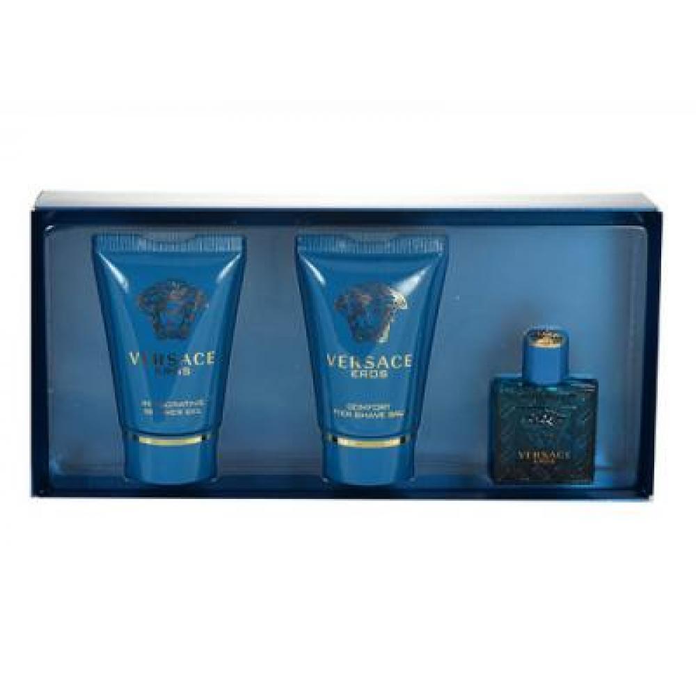 Versace Eros Toaletná voda 5ml + 25ml sprchový gél + 25ml balzam po holení