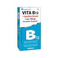 VITABALANS Vita B12 + kyselina listová 1 mg/400 mcg 30 tabliet